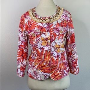 Ruby Rd floral print jacket, size 10